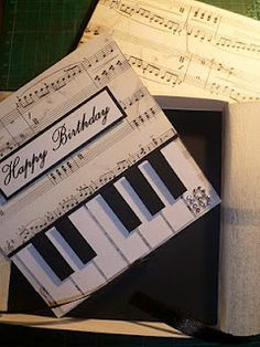 bespoke 18th birthday card for a music