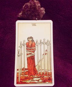 8 of Swords from the Rider Waite deck