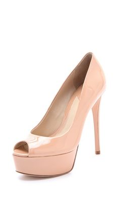 B Brian Atwood Bambola Peep Toe Pumps    perfect without the peep toe