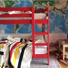 painted ikea bunk beds via Oh Happy Day