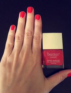 Butter London Patent Shine Lacquer in Smashing leaves your nails looking shiny and fresh. Essie Gel, Gel Manicure, Nail Polishes, Gel Nail Polish, Gel Nails At Home, Dry Nails, Butter London Smashing, Butter London Patent Shine