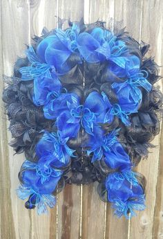 Thin Blue Line wreath. Supporting law enforcement families. Fallen officers.  Leo family. Love my Blue Family.