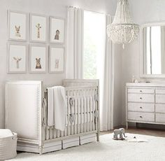 Nursery Gray Overall set the tone. for a nursery that suits boys' and girls' rooms equally well, choose furniture in a silvery grey palette, then accent the pieces with tonal bedding, natural lighting and understated décor. Baby Nursery Art, Nursery Twins, Baby Nursery Neutral, Baby Bedroom, Baby Boy Rooms, Nursery Design, Baby Room Decor, Baby Boy Nurseries, Nursery Room