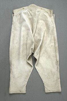 Breeches (image 2) | British | late 18th-early 19th century | cotton | Metropolitan Museum of Art | Accession #:  1988.242.2