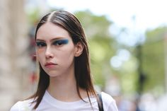 The Raddest Beauty Street Style From NYFW #refinery29  http://www.refinery29.com/2016/09/122660/best-makeup-hair-nyfw-spring-2017-photos#slide-29  We spotted this model outside of the Victoria Beckham show still in the runway makeup — and we love it. ...