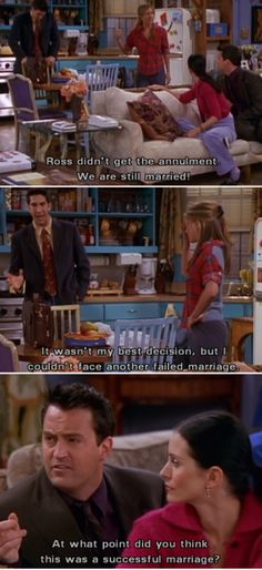 """Ross, you're not married to any more of us, are you?"""