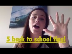 MY TOP 5 BACK TO SCHOOL TIPS!