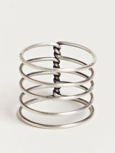 Ann Demeulemeester Women's Spiral Ring