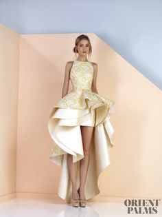 Divina by Edward Arsouni Spring-summer 2017 - Ready-to-Wear Satin Dresses, Elegant Dresses, Pretty Dresses, Bridal Dresses, Prom Dresses, High Low Gown, Maid Dress, Look Chic, Beautiful Gowns