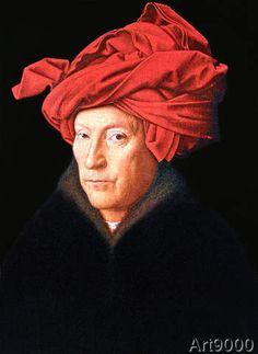 Jan Van Eyck - A Man in a Turban, 1433 (38,0 x 52,0 cm)