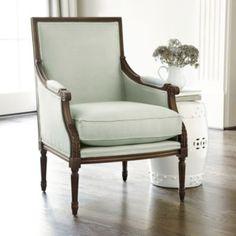 I love the soft, sea glass green color of the chair. ...  Antonia Chair | Ballard Designs