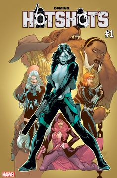 Marvel Comics today announced a new, all-female series titled Domino: Hotshots, written by Gail Simone. Comic Book Artists, Comic Book Characters, Comic Artist, Comic Books Art, Marvel Characters, Domino Marvel, Marvel Dc Comics, Cosmic Comics, Domino Art