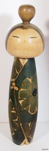 Vintage Japanese Sosaku Kokeshi Doll By Kuribayashi Issetsu