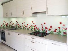 Crédence en verre sur mesure avec impression numérique. Glass splashbacks kitchen with digital print.