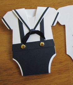Sailor Suit Onesie Baby Shower Invitation set of 12
