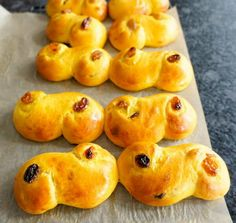 13 December is the feast of St Lucia. In Sweden, they celebrate the day with a procession of young girls dressed in white who wear crowns festooned with candles. They also bake and eat Lussekatter or Lussebullar, saffron buns twisted into an 'S' shape with two raisins stuck into the centres of the coils. Lucia buns are delightful. Soft and tender, possibly through the addition of skyr, Icelandic style yoghurt. They are so gorgeously yellow with saffron you might think they were better fit…