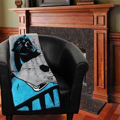 "Carolina Panthers 46"" x 60"" Deep Slant Micro Raschel Plush Blanket - $17.99"