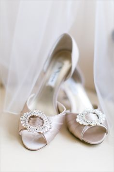wedding shoes #weddingshoes @weddingchicks Shoes by Nina Shoes: http://ninashoes.com/crystah-champagne-crystal-satin--18803 Photo by http://maryneumannphotography.format.com