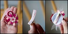 felt flower headband DIY