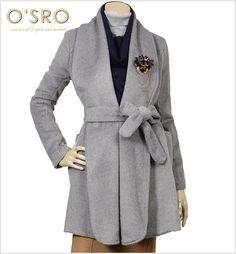 [패션플러스][OSRO][벨트세트]알파카터치숄카라롱코트/코트,숄카라코트,롱코트,알파카터치코트,벨트코트 Ganji Fashion
