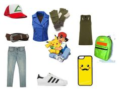 """""""Ash Ketchum cosplay"""" by destiny-demon on Polyvore featuring CellPowerCases, Doublju, Billabong, The Upside, Free People, AllSaints, adidas, women's clothing, women's fashion and women"""