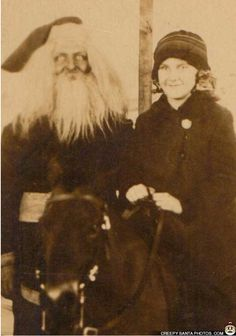 Here are some creepy vintage Santa Claus photos sure to put trauma in your stocking this year. These incredibly creepy Santas don't care if you're naughty or nice.
