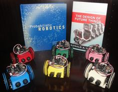 3D-printable MiniSkybots - fully open-source (mechanics + electronics) and designed with Open source tools (OpenScad, Freecad and Kicad.  Great educational project from the Robotics Lab at Carlos III University of Madrid.  Chasis printed on MakerBot 3D printer.