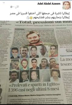 Giulio and the others . 533 enforced disappearances in Egypt over the past eight months . 396 disappearances still unaccounted For  . See More at : http://www.corriere.it/reportages/esteri/2016/regeni-scomparsi-egitto/en/