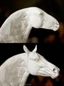 Braymere Custom Saddlery: The horse Head Tutorial, part one Ceramic Animals, Clay Animals, Ceramic Art, Pottery Animals, Sculpting Tutorials, Art Tutorials, Horse Sculpture, Paper Mache Sculpture, Horse Head