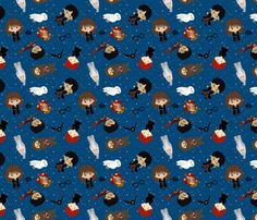 potter fabric by pink posh on Spoonflower - custom fabric