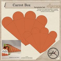 Easter carrot template...Looks great!
