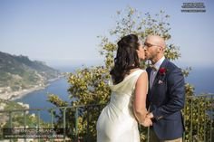 Ravello elopement wedding in the town hall garden principessa di piemonte local wedding planner Mario Capuano  and professional wedding photographer Enrico Capuano. A Ravello dream