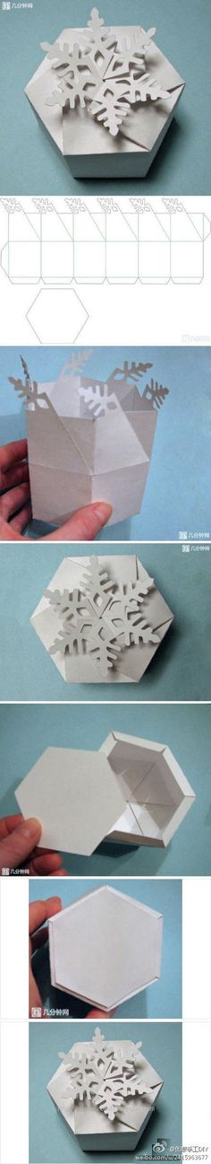 Snowflake paper gift box