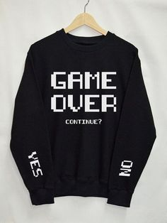 Game Over Shirt Sweatshirt Clothes Pullover Top by Upicestore Source by Tumblr Mode, Style Tumblr, Top Fashion, Fashion Women, Fashion Trends, Fashion Ideas, Funny Fashion, Fashion Shirts, Cheap Fashion