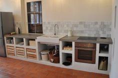 Płytki ceglane  Warsztat Artystyczny w rustykalnej kuchni