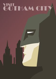 <b>Artist Dave Ault makes the valid point that Batman probably is the number one attraction in Gotham City.</b> Done in a cool minimalist/art-deco style, these would be right at home in a travel agency -- if only they were real.