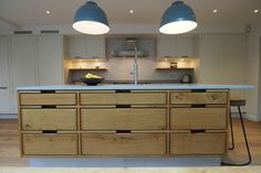 At TRUE Bespoke kitchens we are passionate about creating unique, simple yet beautifully crafted cabinetry made from the finest materials. Danish Kitchen, Cozy Kitchen, Home Decor Kitchen, Kitchen Ideas, Handleless Kitchen, Modern Kitchen Interiors, Bespoke Kitchens, Oak Cabinets, Black Kitchens
