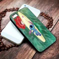 Disney Stitch and Ariel Mermaid | Disney | custom case for iphone 4/4s 5 5s 5c 6 6plus case and samsung galaxy s3 s4 s5 s6 case - RSBLVD