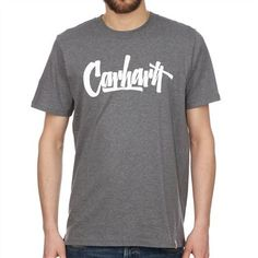 CARHARTT / S/S Marker T-Shirt / Dark Grey Heather White