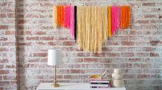 DIY Yarn Banners by Courtney Cerruti