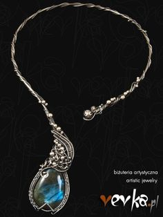 Materials: labradorite, fine and sterling silver.