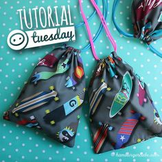 Tutorial Tuesday: sewing small bags yourself as a bundle bag or whatever . - Hamburger Liebe: Tutorial Tuesday: sewing small bags yourself as Mitgebseltüte or whatever … - Diy Christmas Gifts For Boyfriend, Diy Gifts For Girlfriend, Diy Gifts For Dad, Diy Gifts For Friends, Christmas Diy, Christmas Wrapping, Easy Gifts, Sewing Tutorials, Sewing Projects