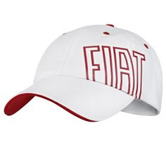 Personalized white and red #Fiat #hat