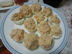 ¡¡¡¡No quiero volver a estar gorda nunca más!!!!: Huevos rellenos Dukan