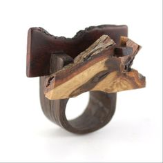 """Gustav Reyes adds some new rings to his """"Ad Idem"""" series, which in Latin means """"of one mind"""". The pieces in this collection are made out of salvaged wood from other artisans."""