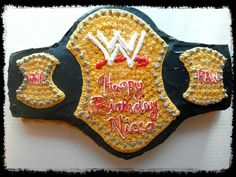 WWE Wrestling cake done by Cleveland Cake Boss