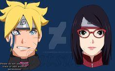 Boruto y Sarada Boruto And Sarada, Sasuke Uchiha, Naruto Shippuden, Boruto Next Generation, Anime Ships, Deviantart, Manga, Wallpapers, Top