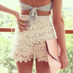 I have an obsession for lace shorts