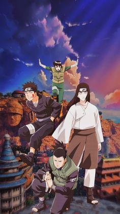 Shikamaru, Neji, Kiba e Rock Lee ⚡️