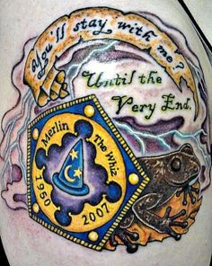 Harry Potter memorial tattoo
